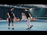 Доминик Тим встретился со Стефаном Божичем и продемонстрировал свои трюки с мячом и ракеткой
