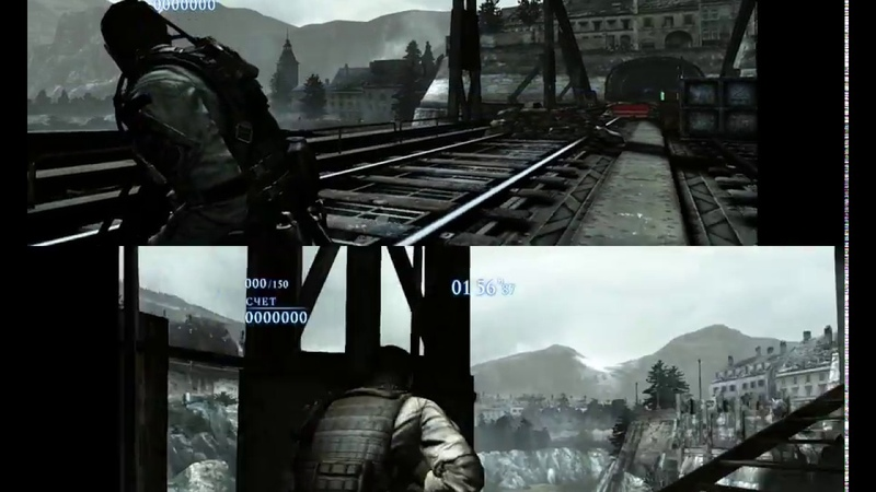 Resident Evil 6 - The mercenaries, co-op with 2 AI on Steel beast