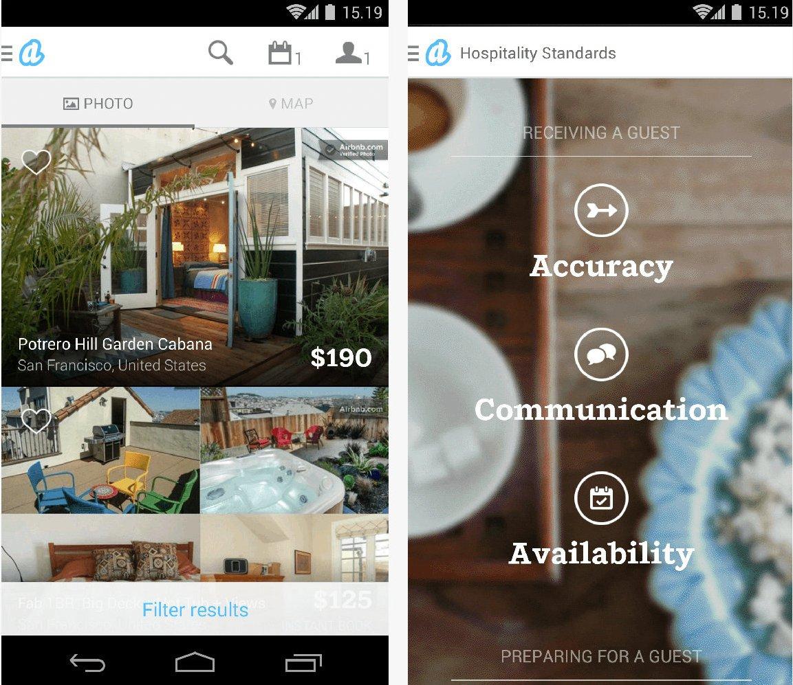 Airbnb - приложение для Android