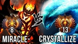 Miracle- Shadow Fiend vs Crystallize Morphling EPIC Carry Battle - Fight for TOP-1 Rank in Dota 2