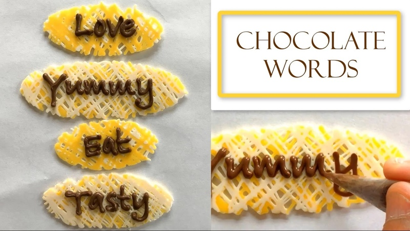 How to Make Chocolate Words Great for Names and Monograms