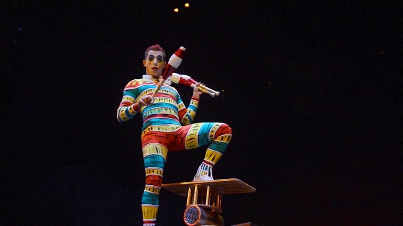 Cirque Du Soleil juggler rola bola Bernard Hazen in La Nouba