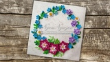 Wreath Quilling Forget-Me-Not flowers - DIY