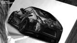 Как нарисовать NISSAN 370z Рисунок автомобиля карандашами ISP DRAWING