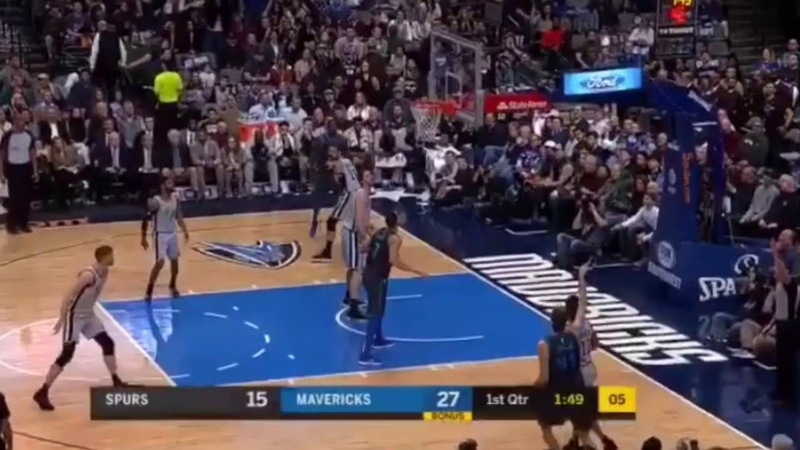 Luka Doncic Delivers His First Assist To Dirk Nowitzki!