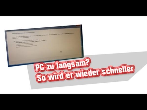 PC ist langsam Windows7 Kein Problem so wird er wieder schnell