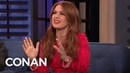 Isla Fisher On What It's Like Being Married To Sacha Baron Cohen - CONAN on TBS