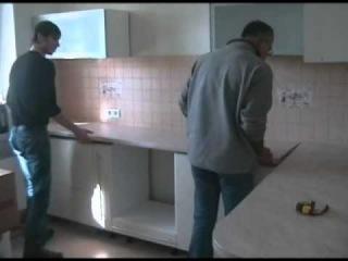 Сборка и установка кухни нашими установщиками malina-mebel.com