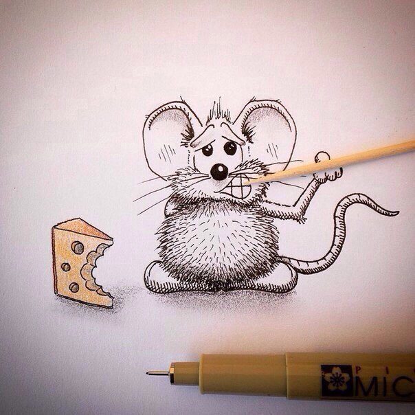 Веселый мышонок рисунок, одобрения