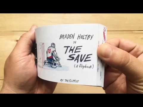 Braden Holtby in...THE SAVE (a flipbook)