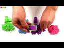 Puzzle TV. English. Build toy castles from the kinetic sand
