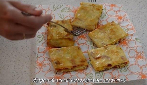 Закуска в лаваше с колбасойы с фото