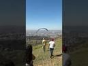 Cachorro agarra em homem de parapente e cai - Serra de Santa Helena / Sete Lagoas