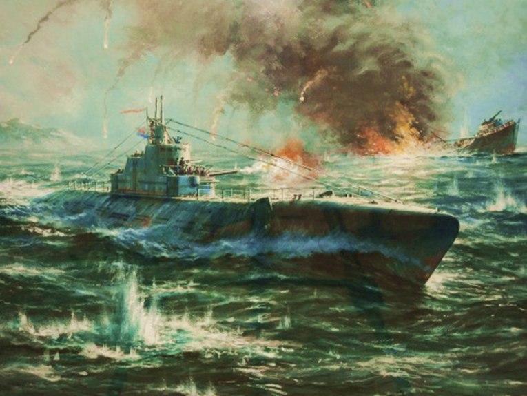 бои подводных лодок видео