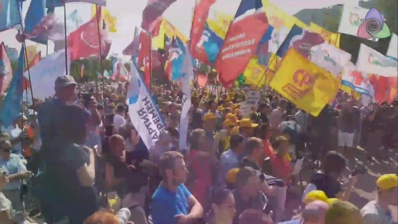 На проспекте Академика Сахарова Митинг 2 сентября в Москве Суворовская площадь против пенсионной реформы и за социальные права г