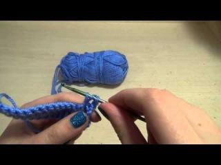 Вязание крючком урок №23 Выпуклый столбик с накидом