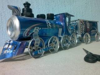 tren hecho con latas de aluminio tutorial Как Сделать Поезд Или Поровоз И Вогон