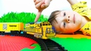 Американский Поезд и Железная дорога для детей Игрушки для Мальчиков