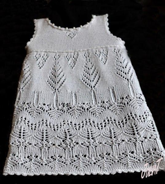 Платье для девочки спицами (4 фото) - картинка