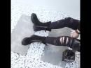 Европа и Соединенные Штаты новые короткие сапоги толстые с толстыми сапогами женская кожа Мартин сапоги низко с плоскими сапогам