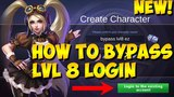 HOW TO BYPASS/SKIP UNLOCK LEVEL 8 TO LOGIN EXISTING ACCOUNT IN MOBILE LEGENDS. UPDATED 2018