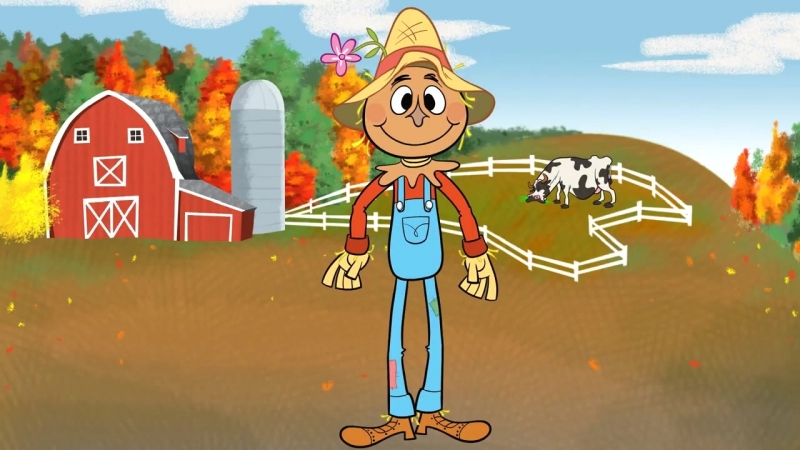Autumn Songs for Children - Scarecrow Song - Kids Songs by The Learning Station