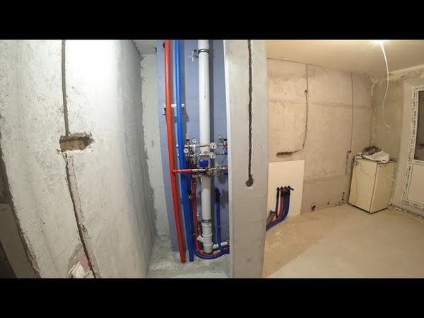 Монтаж водопровода в Балашихе. Материал проекта: ТЕСЕ, Viega Profipress, Rehau Raupiano Plus