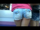 Chick in tight jean short shorts   YouTube