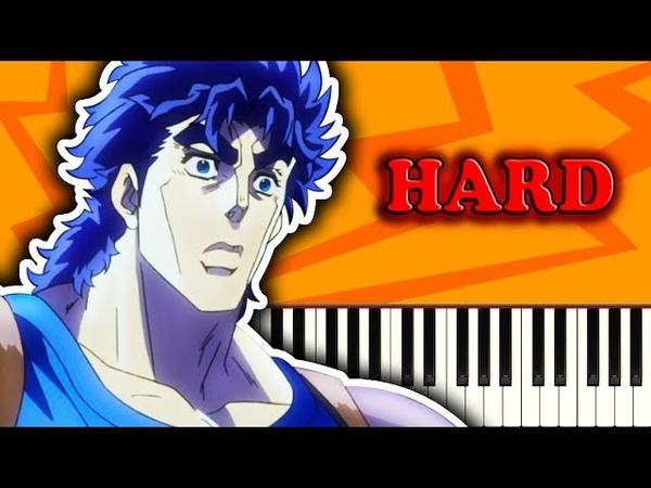 JOJOS BIZARRE ADVENTURE OP 1 (JOJO SONO CHINO SADAME) - Piano Tutorial