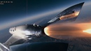 Аппарат Virgin Galactic сделал невероятные кадры в свой первый космический полет.
