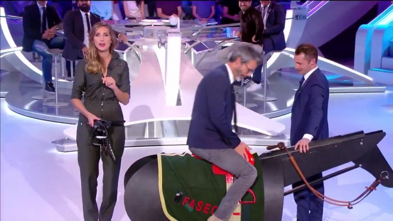 Ток шоу на французском TV накануне сачки Qatar Prix de l'Arc de Triomphe