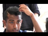 Asian sensation X-factor mens short hair style - how to style and straighten black hair By Vilain
