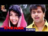 Arjun saves Vineetha from quick sand | Karnaa Tamil Movie Scenes | Arjun | Ranjitha | Thamizh Padam