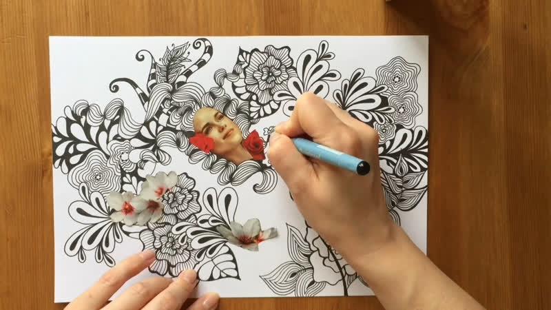Рисуем вместе. Девушка-весна 4