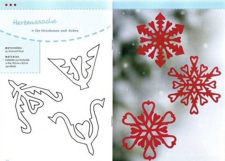 Как сделать снежинки из бумаги схемы дед мороз