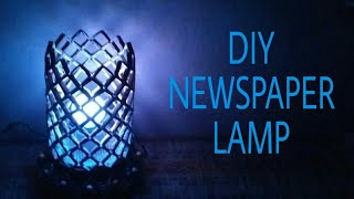 How to make Newspaper Lamp Best out of waste