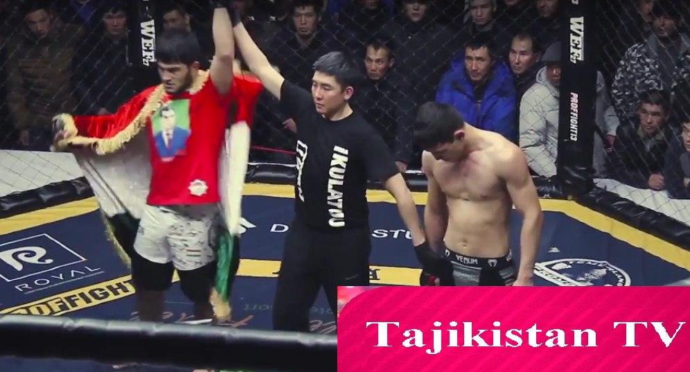 Таджикский боец отправил в нокаут соперника из Кыргызстана
