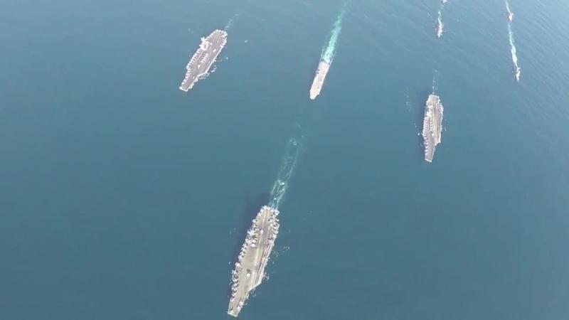 Авианосные группы ВМС США и ВМС Японии