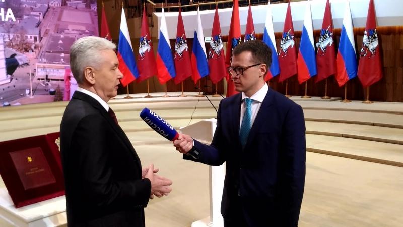 Интервью Собянина С.С. после вступления в должность Мэра Москвы 18.09.2018г.