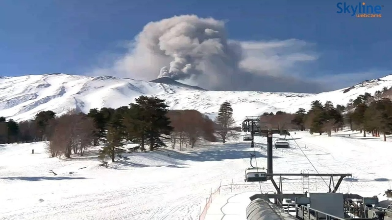 Mt. Etna is spewing a lot of smoke
