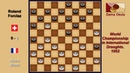 Acca Bizot NLD Roland Forclaz SUI Draughts World Championship 1952