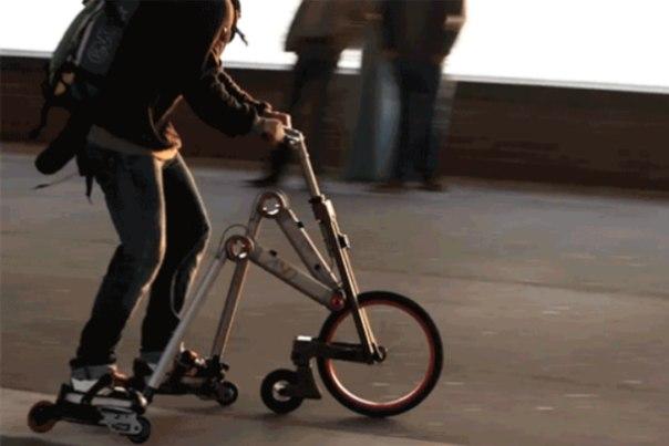 Штука: Гаджет для тех, кто не может выбрать между катанием на велосипеде и роликах
