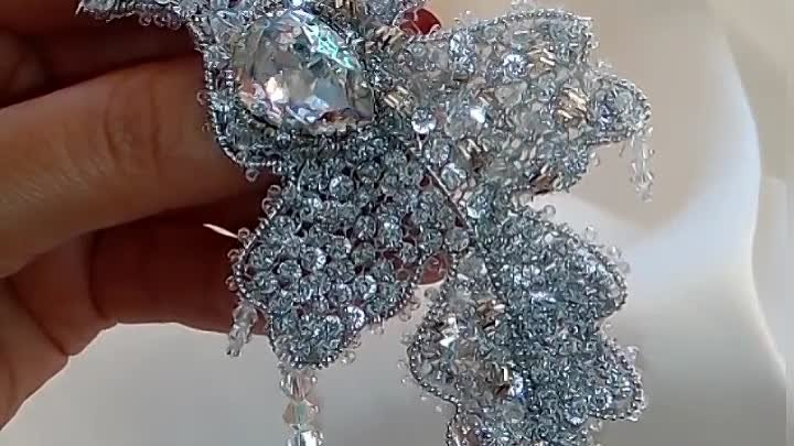 Брошь - Ледяной листок