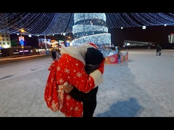 Kissing Prank БУХОЙ ДЕД МОРОЗ ЗАСАСЫВАЕТ