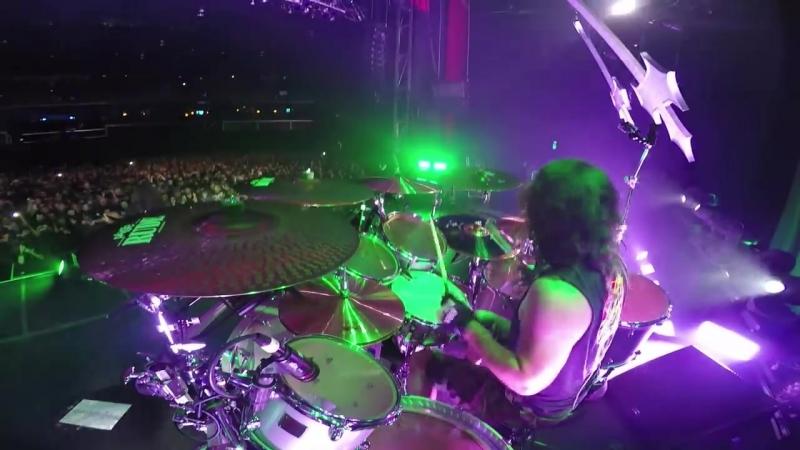 PAUL BOSTAPH (SLAYER) - War Ensemble (GoPro Footage Hammond, Indiana 2014)