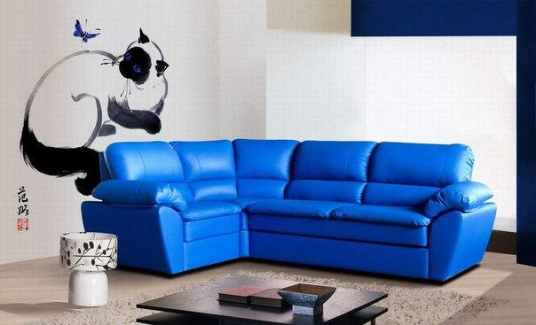 Синий диван фото