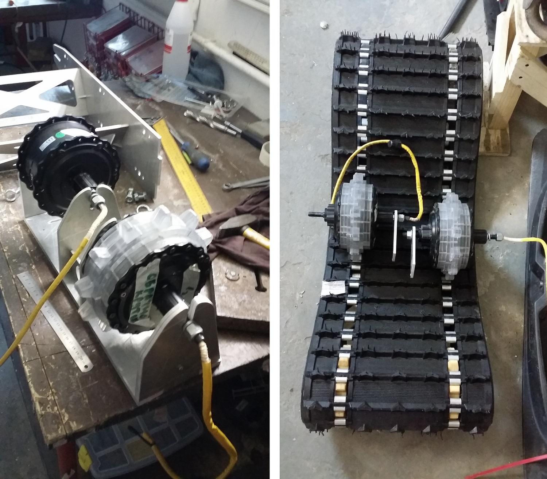 Мотор-колесо для гусеницы, разработаем?