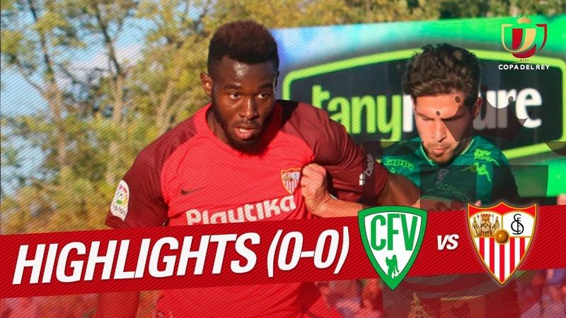 Resumen de CF Villanovense vs Sevilla FC (0-0)