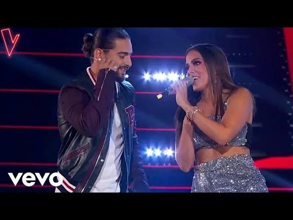 Звезды на Шоу Голос Мексика 2018 Малума и Анита с песней Сердце The Voice La Voz México 2018 Maluma ft Anitta Corazón