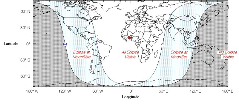 Карта затмения.